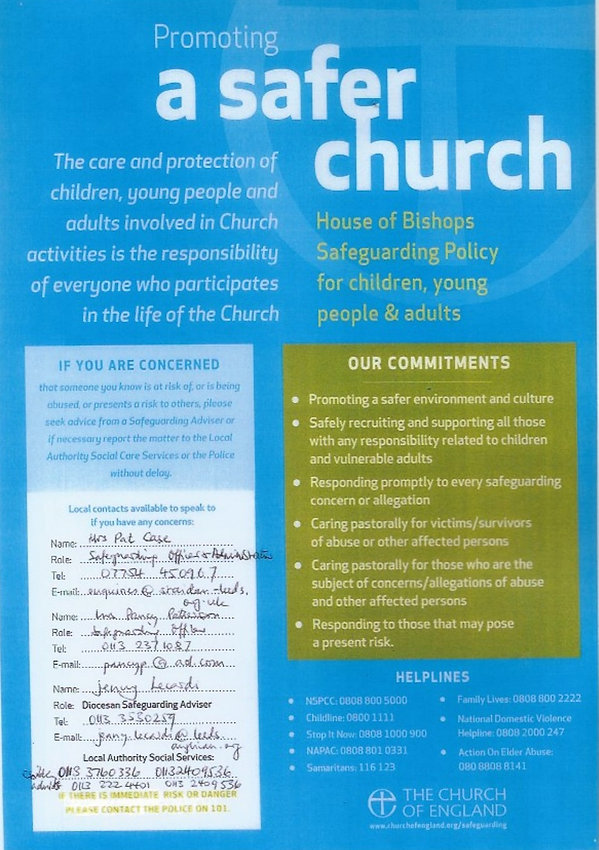 Promoting a Safer Church - St Aidan's Le