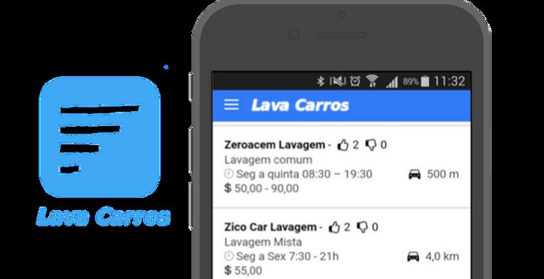 Lava Carros: Aplicativo mobile multiplataforma (iOS e Android) para busca de lavagens de automóveis por geolocalização