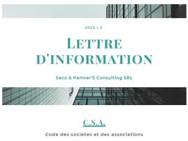 Le code des sociétés et associations (Partie 2)
