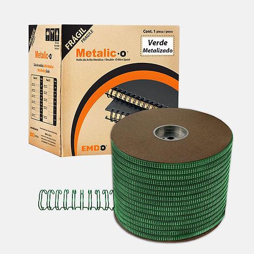 Bobina Arillo Metálico Doble Color Verde Metalizado (Paso 3:1 y 2:1)
