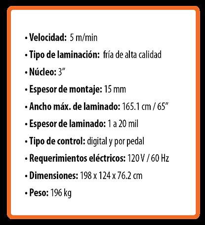 Laminadora RSC-1651HCLTW (gran formato)