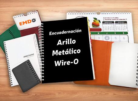 Encuadernación Arillo Metálico Doble o Wire-o