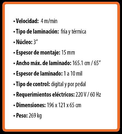 Laminadora RSH-1651 (gran formato)