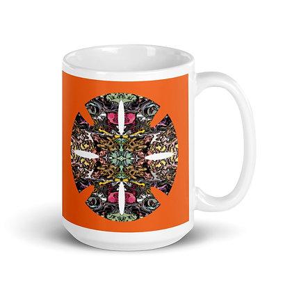 Mug Blanc Brillant RETINAL CANDY orange