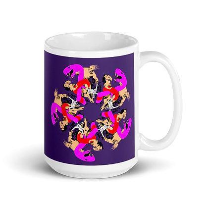 Mug Blanc Brillant UNGL purple