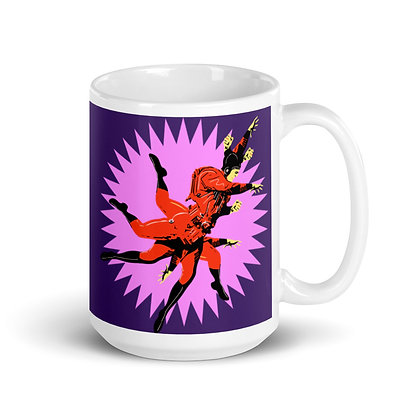 Mug Blanc Brillant ZEUBEUK purple