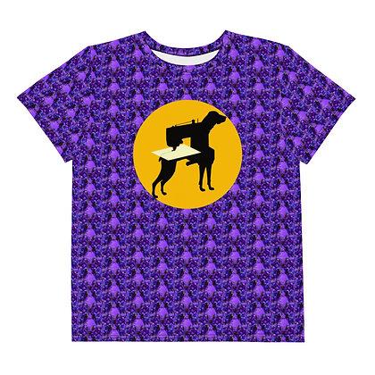 T-shirt Pour Adolescent LOGOCHIENNE ABLEU