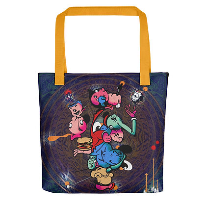 Tote bag WIMPOPEYOIL all over