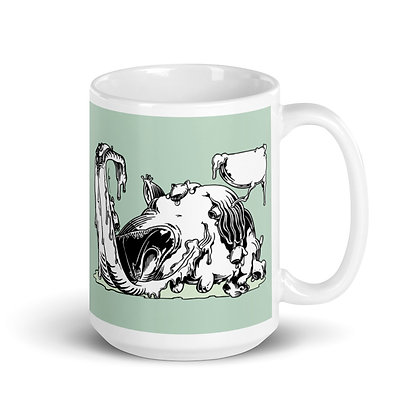 Mug Blanc Brillant CHIENALECHES green5