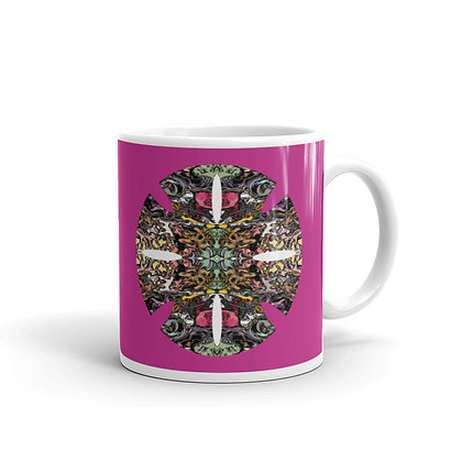Mug Blanc Brillant RETINAL CANDY pink