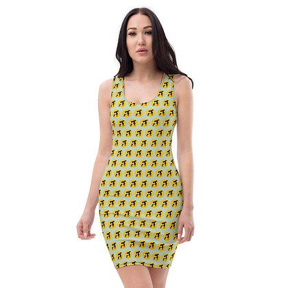 Robe LOGOCHIENNE motif green5