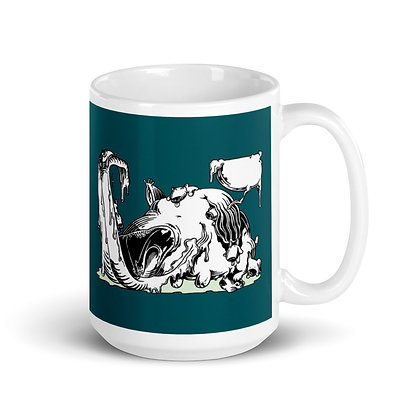 Mug Blanc Brillant CHIENALECHES blue4