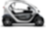 Livraison de pizza à Tomlaine en véhicule 100% électrique Renault Twizy
