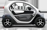 Livraison de pizza à Essey-les-Nancy en véhicule 100% électrique Renault Twizy