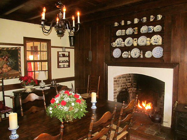 A winter's fire in the dining room.jpg