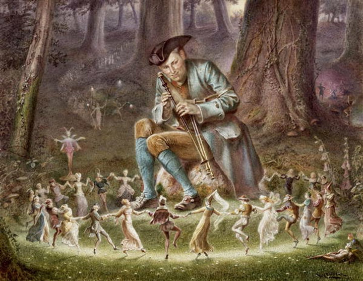 The Faeries (Fairies) Dance to the msuic of the pipes at Lightwood