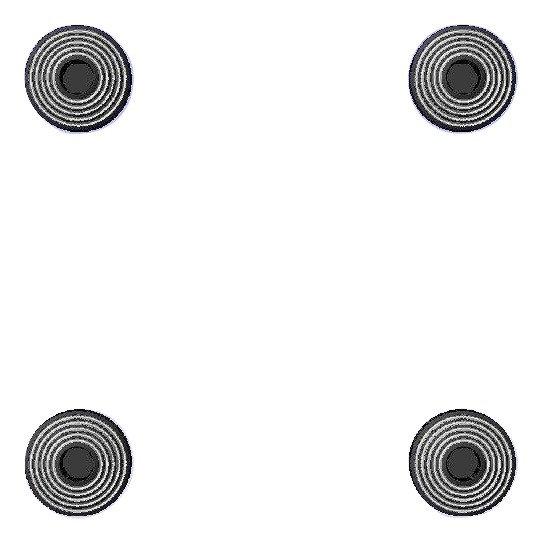 1911 Engraved Black HH Rings Design Grip Screws, Bushings, O-Rings, Wrench Kit