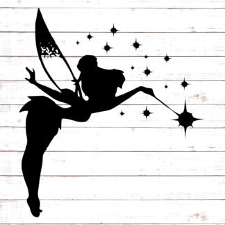 Tinkerbell Flying - Wand & Stars