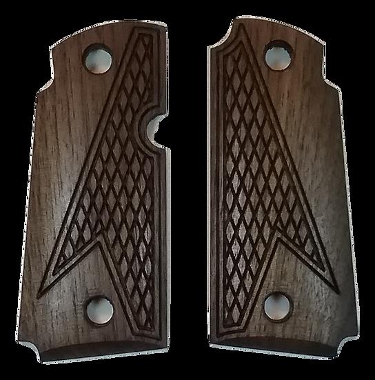Kimber Micro 380 - Walnut - Half Tactical Checkering Grips