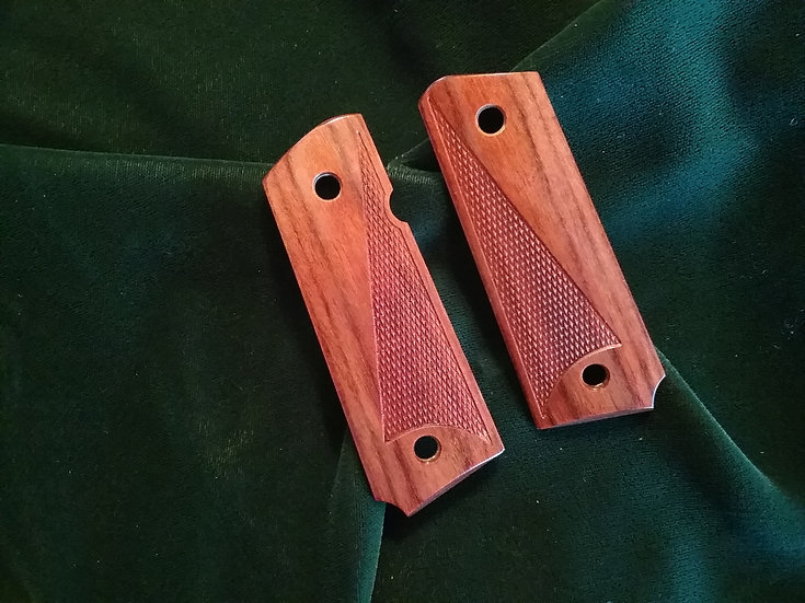 "Springfield EMP 3"" - Rosewood - Half Tactical Checkering - Slim Grips"