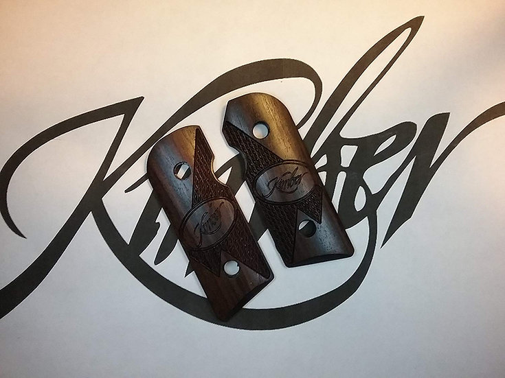 Kimber Solo - E. Indian Rosewood - Kimber Logo Half Tactical Checkering Grips