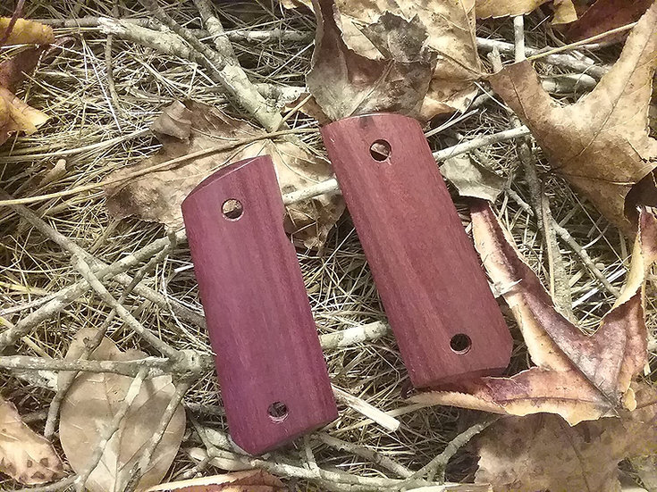 1911 Compact Size Officer Model - Purpleheart Smooth Grips