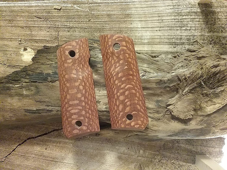 1911 Compact Size Officer Model - Leopardwood - TRFR Grips