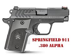 Springfield 911 .380 Alpha