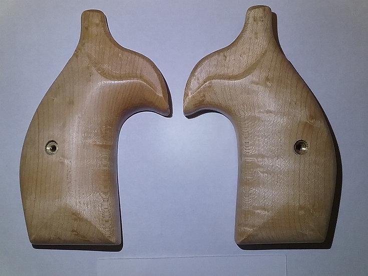 """S&W K/L-Frame """"Birdseye Maple"""" Smooth Target Revolver Grip - Round Butt"""