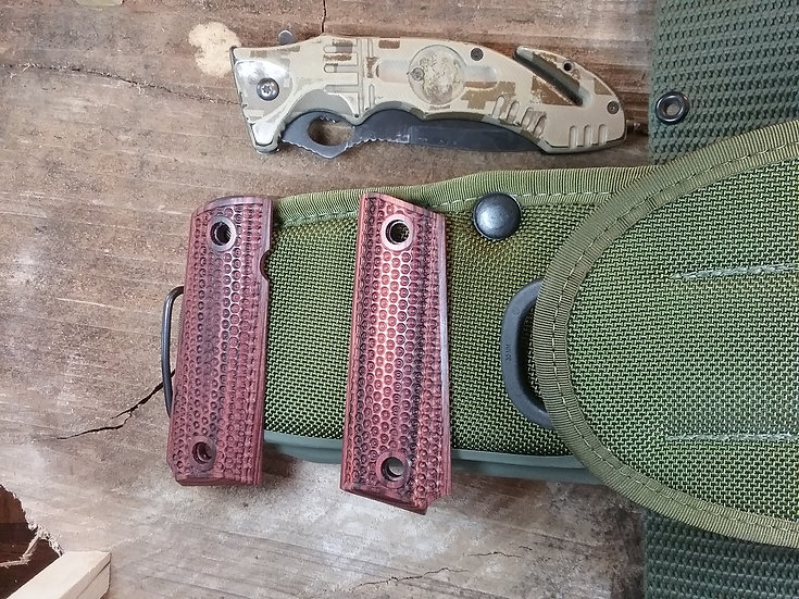 Browning 1911 - 22/380 - Kingwood - Tactical Spiked Honeycomb Texture Grips