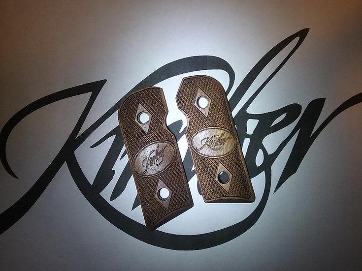 Kimber Solo - Walnut - Kimber Logo Double Diamond Checkering Grips