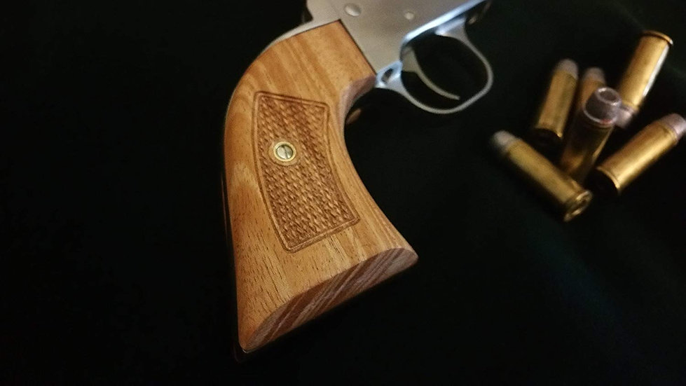 Ruger Vaquero Classic Panel - African Mahogany - Flat Contour - Checkering Grips