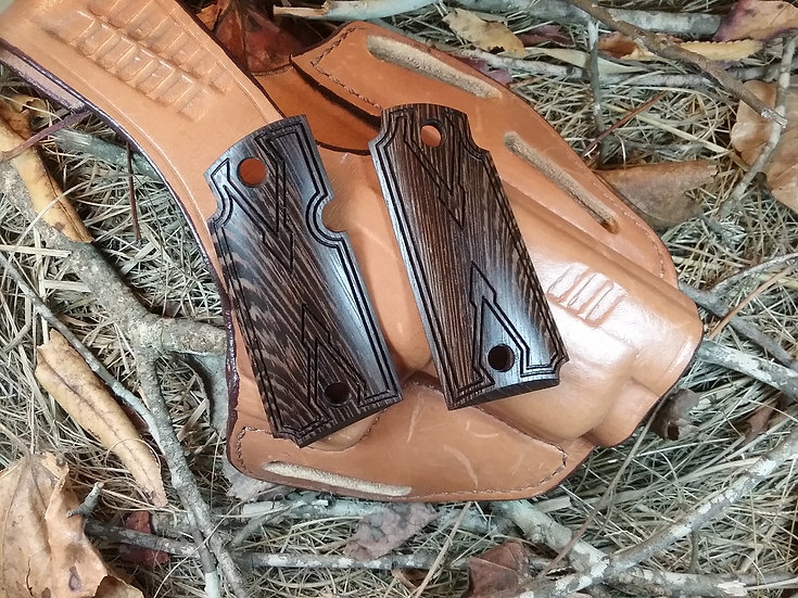 Kimber Micro 380 - Wenge - Double Diamond Smooth Carry Texture Grips