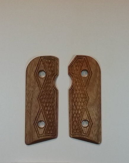 Kimber Solo - Canarywood - Half Tactical Double Diamond Checkering Grips