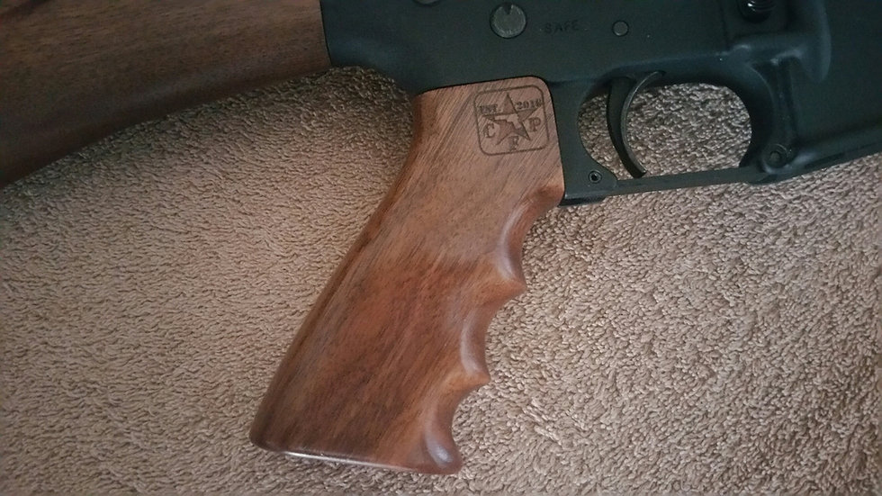 AR-15 - Pistol Grip - Walnut - Finger Groove Palm Swell