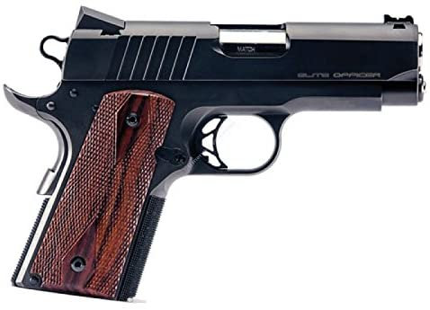 1911 Compact Size Officer Model - Walnut - Half Tactical Checkering Grips