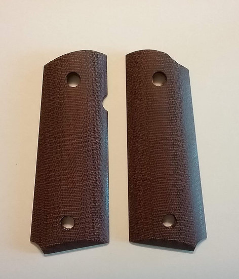 1911 - Compact Size Government Butt - Brown Canvas Smooth Grips
