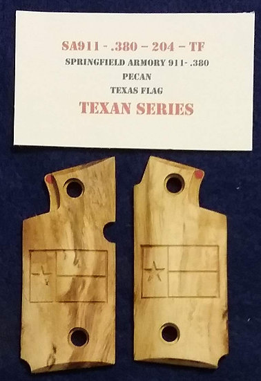 Springfield  Armory 911- 380 - Pecan - Texas Flag Grips