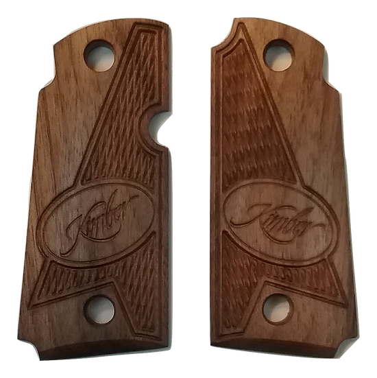 Kimber Micro 380 - Walnut - Kimber Logo Half Tactical Checkering Grips