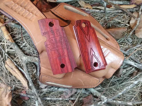 Kimber Micro 380 - Padauk - Double Diamond Smooth Carry Texture Grips