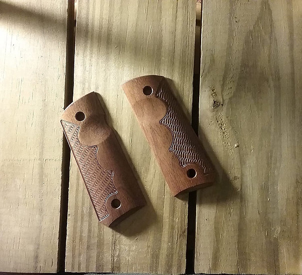 1911 Compact Size Officer Model - Walnut - TRFR - RHTC Grips