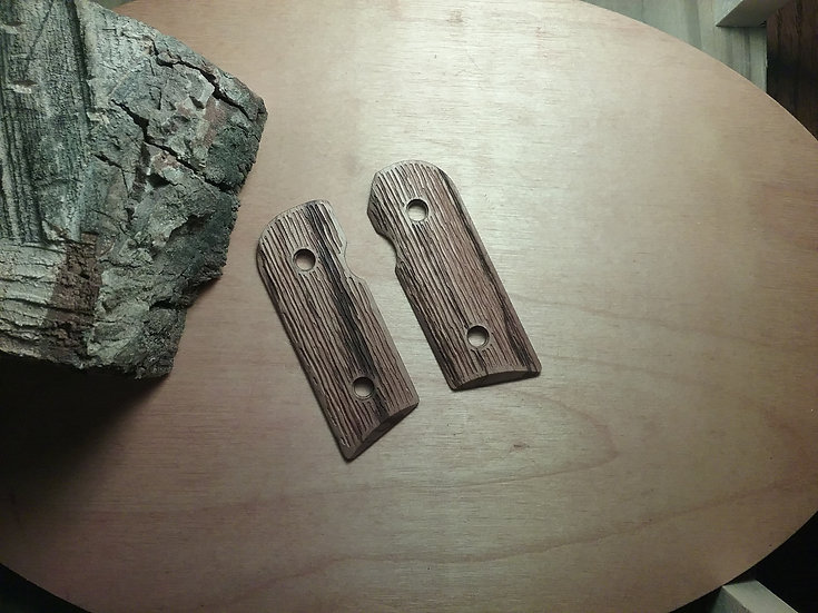 Kimber Solo - Zebrawood - Tree Bark Texture Grips