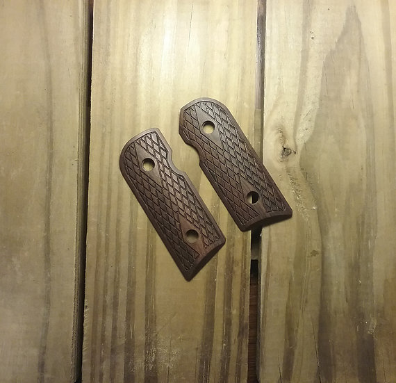 Kimber Solo - Bolivian Rosewood - Large Double Diamond Checkering Grips