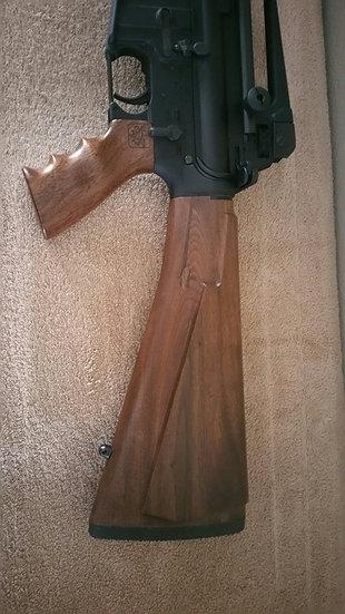 AR-15 Walnut Stock Set Components