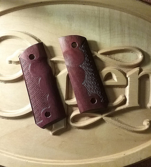 1911 Compact Size Officer Model - Purpleheart -TRFR - RHTC Grips