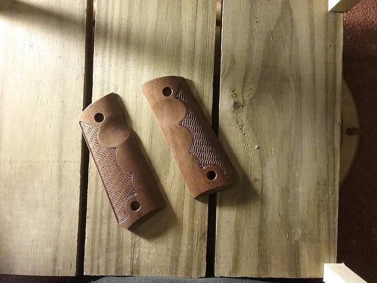 1911 Compact Size Officer Model - Walnut - TR - RHTC Grips