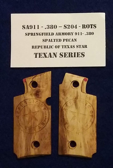 Springfield  Armory 911- 380 - Spalted Pecan - ROTS Grips