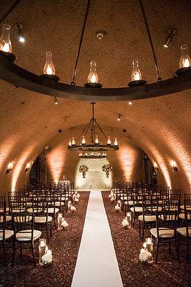 Calistoga Ranch wedding KMR Photography wine cellar romantic wedding ceremony space