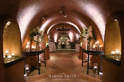 Napa wedding cellar reception space