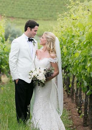 kunde winery wedding Maria Smith Photography wedding couple in Napa vineyard